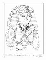 Coloring Coffin Lesson Pages Plans Teacherspayteachers Plan Detail Tutankhamen sketch template