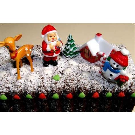 4 dcorations de bches de nol scrapcooking accessoires pour gteau