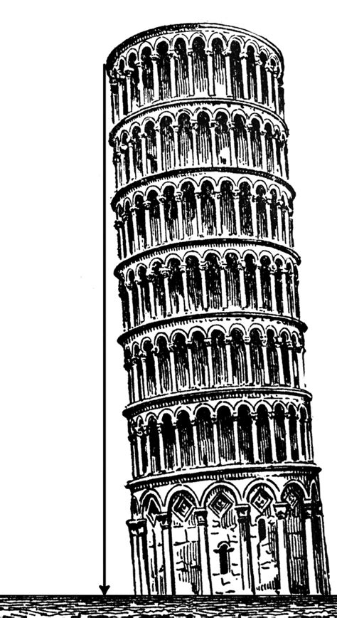 leaning tower clipart