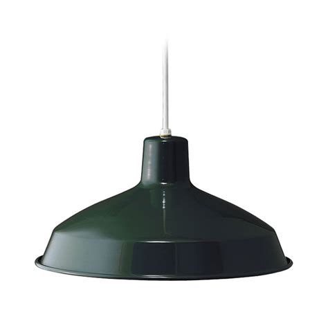 progress warehouse rlm pendant light with green metal