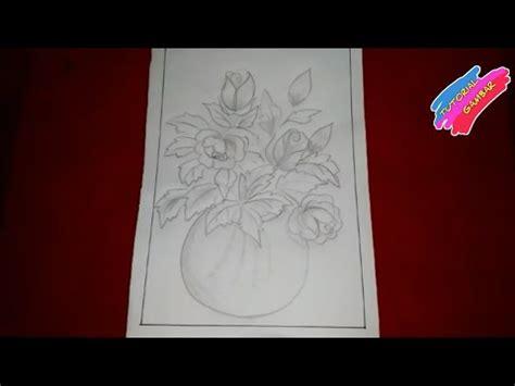 koleksi terbaru  menggambar sketsa bunga gambar