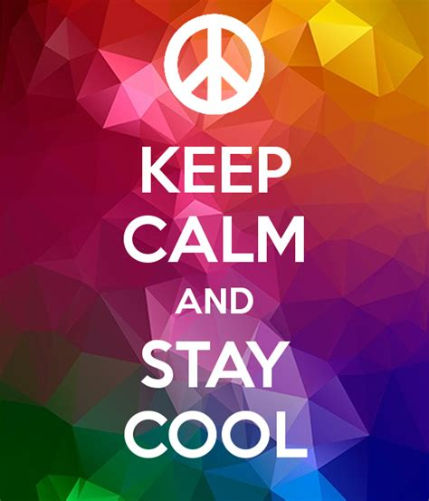 Keep Calm And Stay Cool Poster  Matteo Chicarella Keep