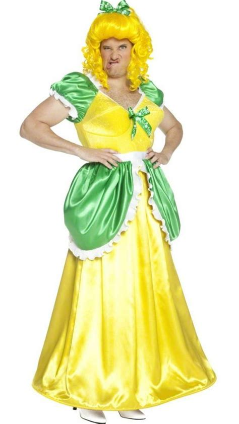Ugly Sister Panto Costume in Yellow [AQ034652]  Karnival Costumes