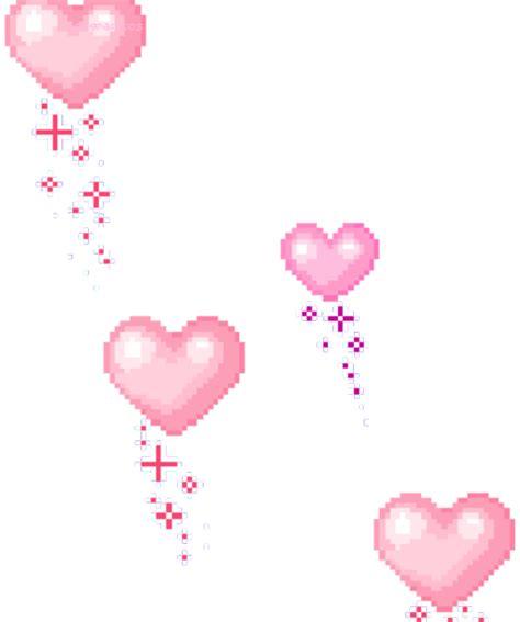 hearts lovecore heart love pixel