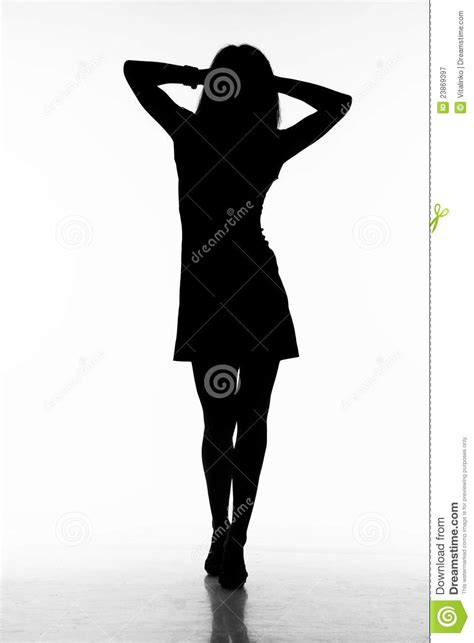 silhouette  walking woman stock image image