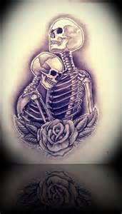 Skull Love Drawings