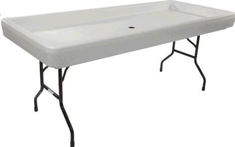 fill and chill table cooler 6 foot fill n chill table black rentals st paul mn