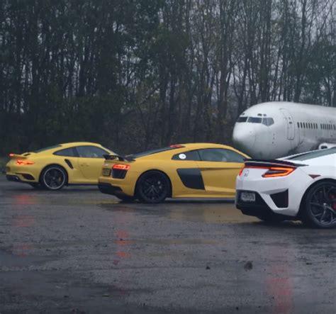 Nsx Vs R8 by Top Gear Honda Nsx Vs Audi R8 V10 Vs Porsche 911 Turbo