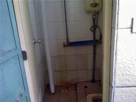squat toilet     dorm rooms  poor