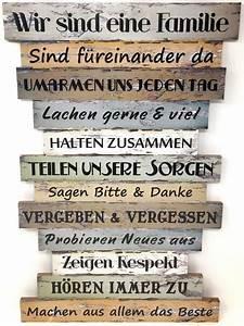 Blechschilder Sprüche Vintage : dekoschild familienregeln wandschild regeln spr che ~ Michelbontemps.com Haus und Dekorationen