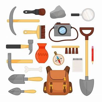 Paleontologist Vector Tools Archaeological Clip Illustrations