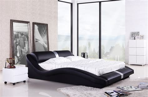bedroom furniture european modern design top grain