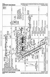Houston Bush Int U0026 39 Ctl Airport Map  U0026 Diagram  Houston  Tx
