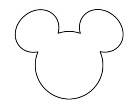 Mickey Mouse Silhouette Template by Momaye S Diary Do It Yourself The Invitation