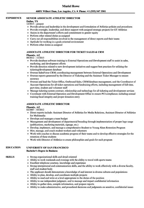 athletic director resume exles 28 images athletic