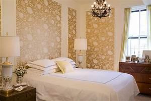 Metallic Wallpaper - Transitional - bedroom - Summer