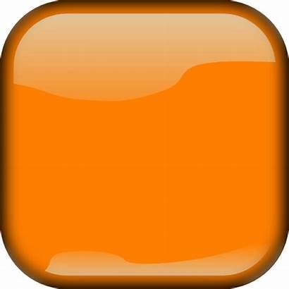 Button Square Orange Dark Clip Clipart Vector