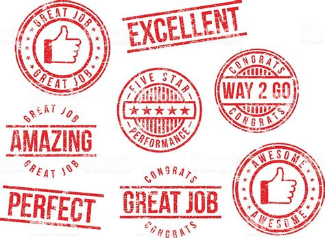 Rubber Stamps Great Job Stock Vector Art 472329233  Istock