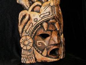 Sale Aztec Mayan Clay Warrior Mask Face Southwest Mexican ...