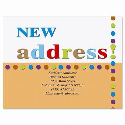 Address Postcards Cards Moving Announcements Moved Postcard