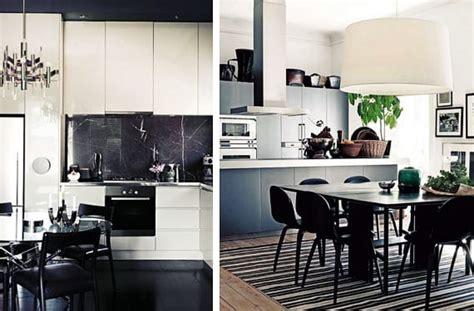 cocinas en blanco  negro modernas  sofisticadas