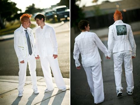 Casual Lesbian Wedding Suit