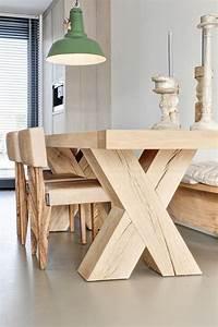 Table Bois Massif Brut : d corez vos int rieurs avec une belle table rustique ~ Teatrodelosmanantiales.com Idées de Décoration