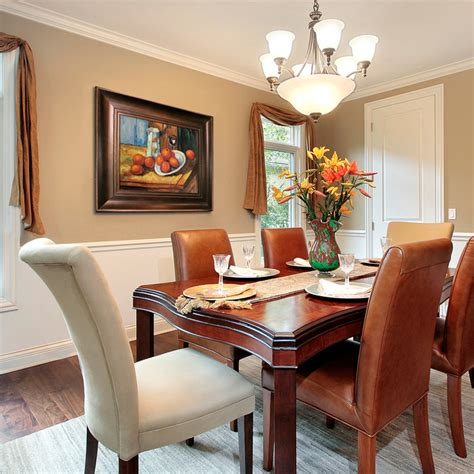 Above Kitchen Cabinet Decorative Accents by Oil Paintings For Dining Rooms Traditional Dining Room