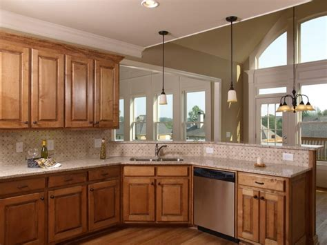 modern kitchen paint colors with oak cabinets