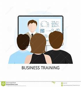 Business Training Icon Flat Design Concept Stock Vector ...
