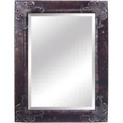 shop yosemite home decor 44 1 2 in h x 32 5 in w antique silver rectangular bathroom mirror at