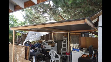 put  simple shed perfect patio roof cover  sheru bruno lazy  worker youtube