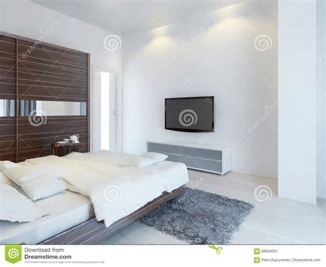 console de chambre chambre à coucher avec la tv et une console de media