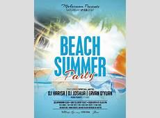 Summer Beach Party Flyer Poster PSD template Other PSD