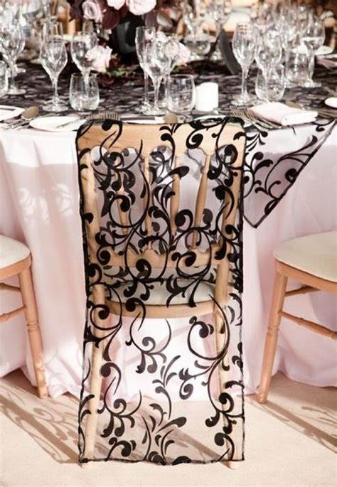 black wedding black lace chair cover 2041763 weddbook