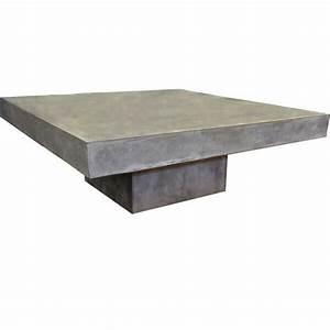 Table Basse En Beton : tables basses de salon design b ton acier bois mathi design ~ Teatrodelosmanantiales.com Idées de Décoration