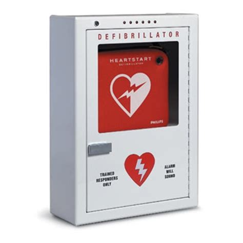 Defibrillator Cabinet by Philips Alarmed Aed Cabinet Large Pfe7024d