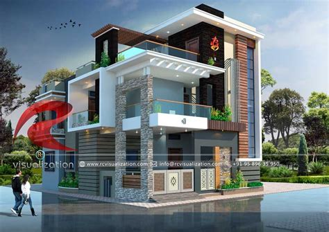 bungalow designs gallery rc visualization structural plan  elevation designing company