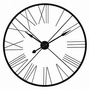 Horloge En Metal : horloge indus en m tal noire d 90 cm alton maisons du monde ~ Teatrodelosmanantiales.com Idées de Décoration