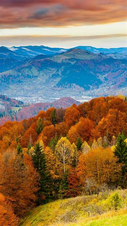 Nature Orange Fall Mountain Tree Fun Iphone