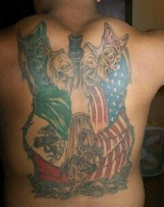 foto de Mexican And US Flag Tattoo On Back Of Body Tattoo Ideas