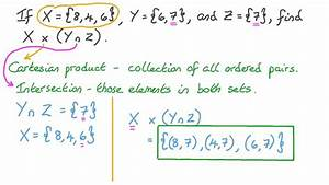 Lesson  Cartesian Products
