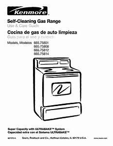 Kenmore 66575801001 User Manual Gas Freestanding Range