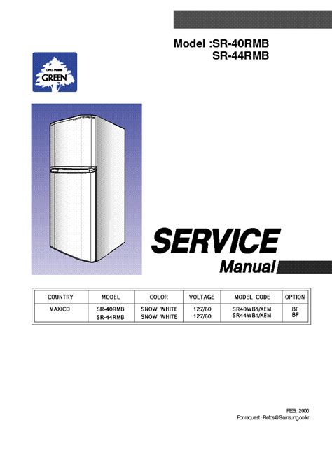 samsung sr 40 44rmb service manual schematics