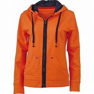Sweat A Capuche Orange : sweat zipp capuche femme jn981 orange urban ~ Melissatoandfro.com Idées de Décoration