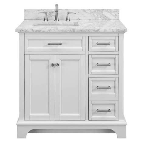 white single bathroom vanity shop allen roth roveland white undermount single sink