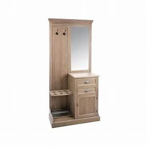 meuble vestiaire 93cm bois grise patine blanchi paolia With meuble d entree vestiaire