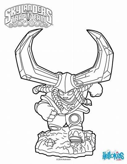 Coloring Skylanders Pages Trap Team Head Sheets