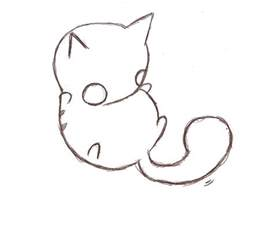 cat drawing easy cat drawing