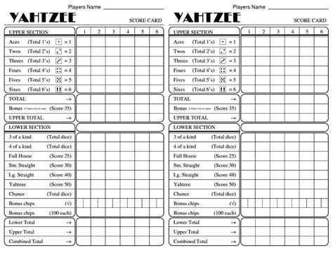yahtzee score sheets printable activity shelter camizuorg